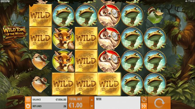 Wild Tome of The Woods er produceret af Quickspin