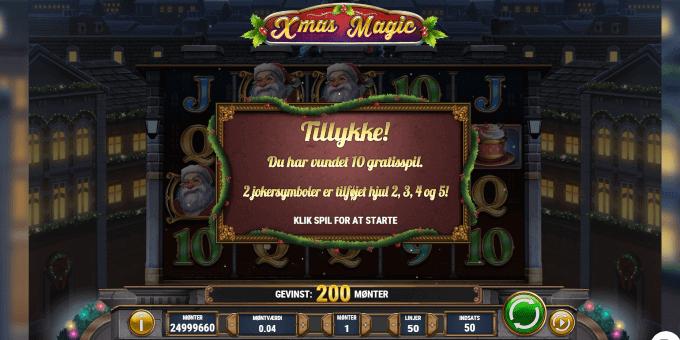 Vind op til 20 gratis spil i Xmas Magic